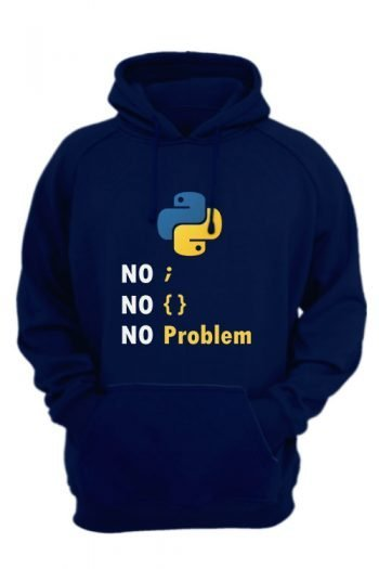 Computer Programming Language Python-navy-blue-hoodie