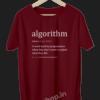 Algorithm-Definition-for-Software-Developer-and-Administrator-Funny-Programmer-Coding-geek-developer-maroon-tshirt